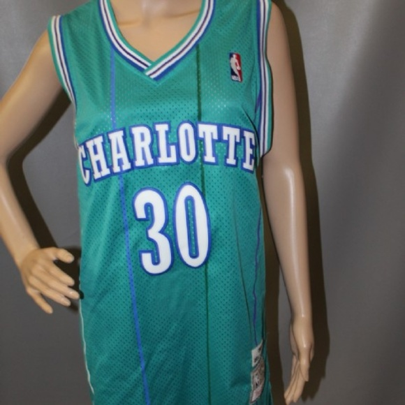 detailed look 973be 4a9ad Men's L MITCHELL & NESS CHA Hornets Curry Jersey